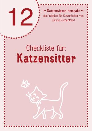 Katzenwissen-kompakt 12 - Katzensitter