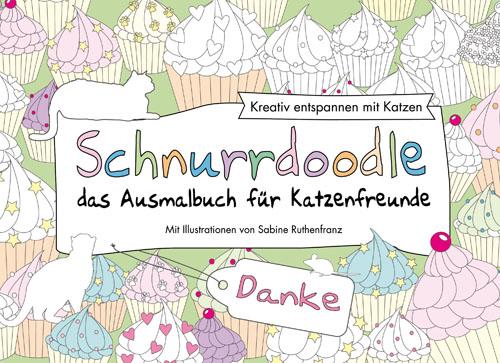 Schnurrdoodle Ausmalbuch für Katzenfreunde - Danke Edition