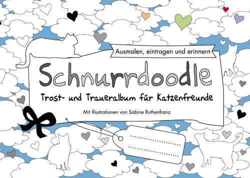 Schnurrdoodle Traueralbum für Katzenfreunde zum Ausmalen