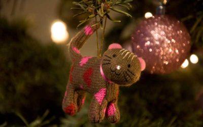Katzenfreundliche Weihnachtsdeko und glitzernde Gefahren